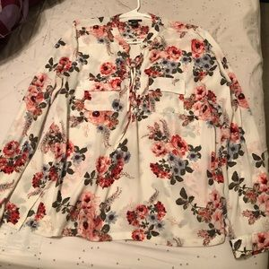 3 for $12 Rue 21 long sleeve floral blouse